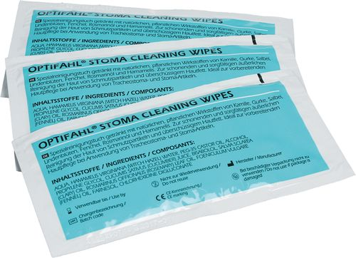 OPTIFAHL® Stoma cleaning wipes - Tracheostoma-Reinigung - Andreas Fahl Medizintechnik